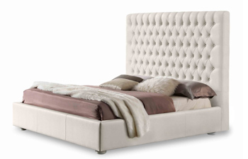 Vintage Modern White Bed