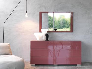lacquer Dresser in Marsala Color