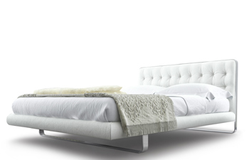 Modern Minimalistic Bed White