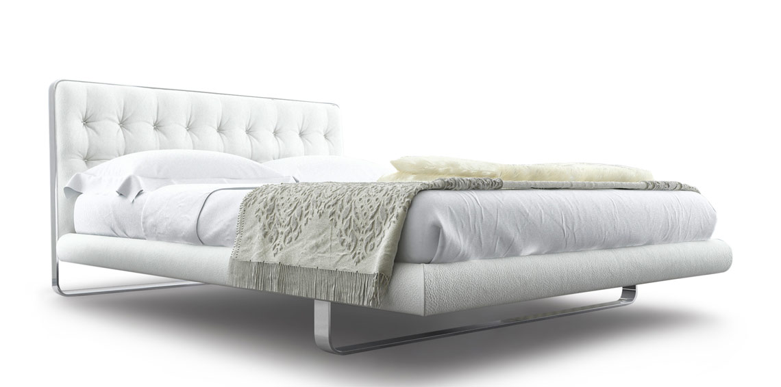 White Minimalistic Bed
