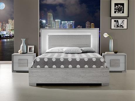 Italian Bed in grey