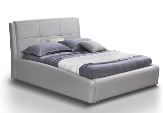 Lux Leather Bed Grey