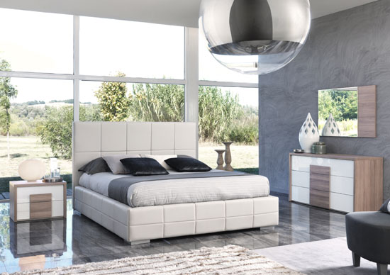 Modern Taupe Bed