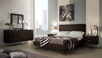 Brown Lacquer Bed