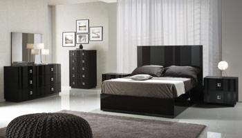 Black Italian Bedroom Set