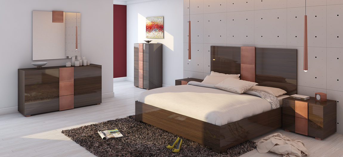 Wood Lacquer Bedroom