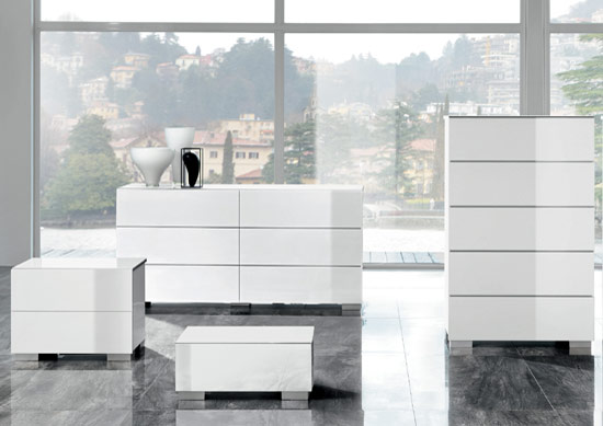 White Lacquer Casegoods