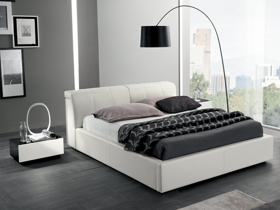 White Designer Bed