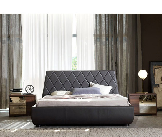 Contemporary Brown Bed