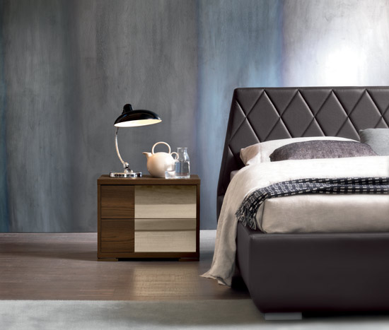 Modern Brown Leather Bed