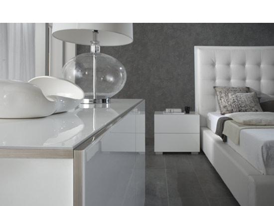 Modern White Bed