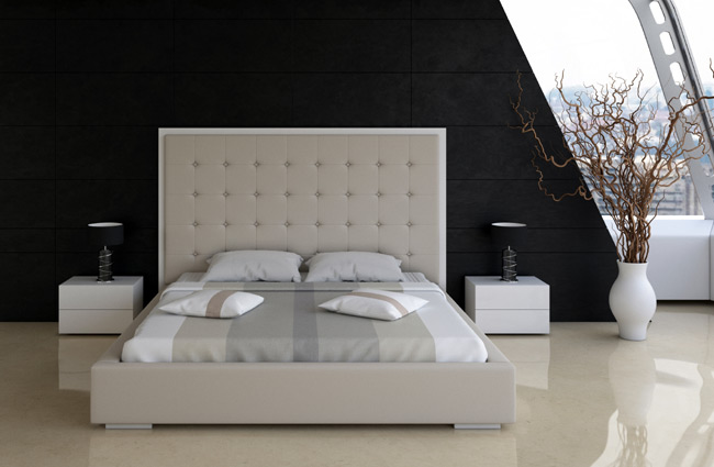 Taupe Tal Bed