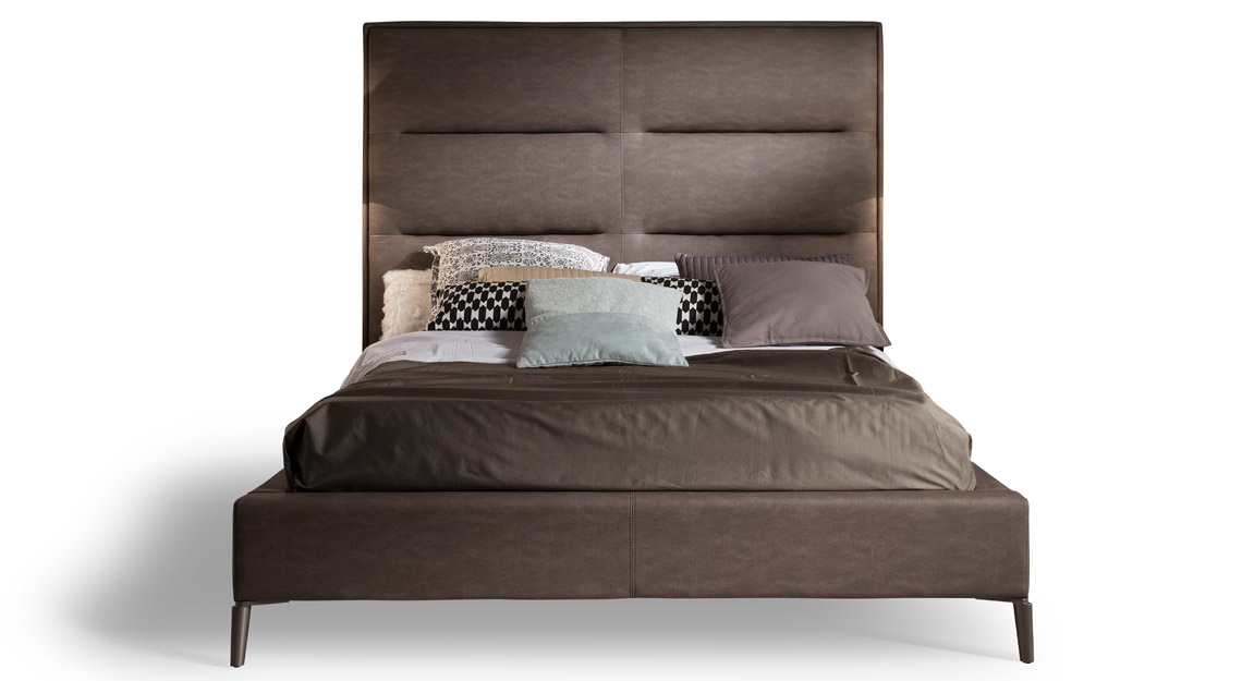 Brigitte Leather Bed