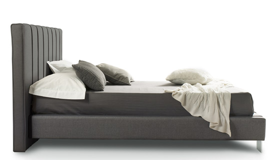Chloe Grey Fabric Bed