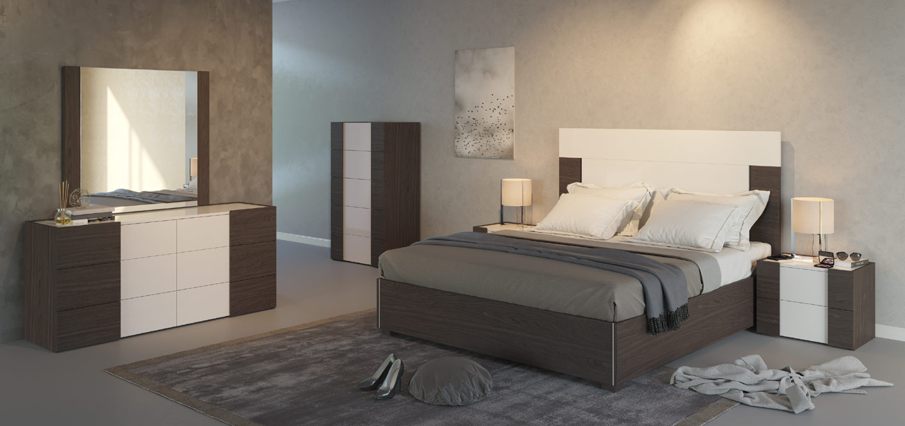 White Espresso Bedroom Set