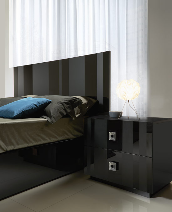 Black Lacquer Night Stand