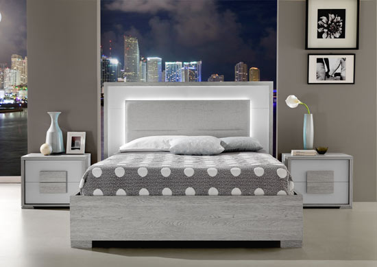 Moden Grey Bed