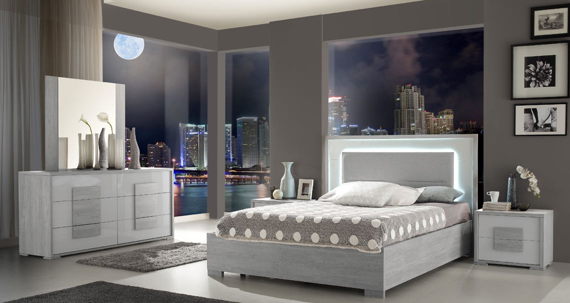 Grey Italian Bed
